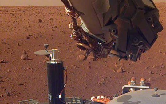 Mars InSight записал шум марсианского ветра [слушать]