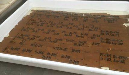 Таблицу Менделеева, отпечатанную в 1879-1886 годах, обнаружили в Шотландии