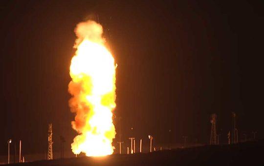Испытательный пуск МБР Minuteman III [видео]