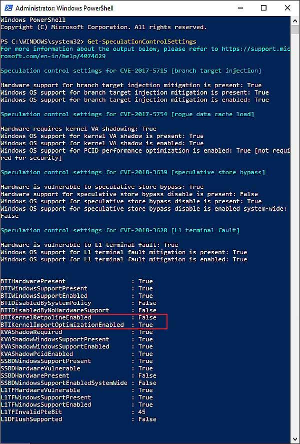 """Retpoline в Windows 10 1809: как включить новое """"смягчение"""""""