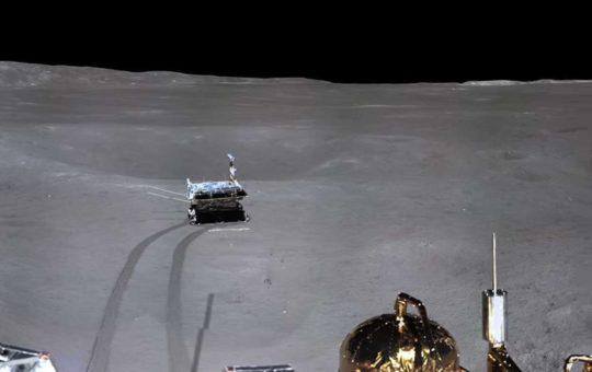 Yutu-2 накатал уже 163 метра по обратной стороне Луны [видео]