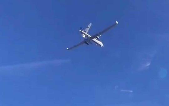 Перехват ударного MQ-9 Reaper истребителем ВКС РФ ? [видео]