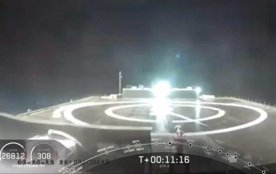Первую ступень Falcon Heavy посадить не удалось [видео]