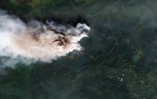 «Роскосмос» показал очаги сибирских пожаров с орбиты