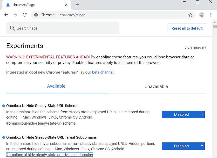 """Куда пропали """"тривиальные"""" https и www и как вернуть их в адресную строку Chrome"""
