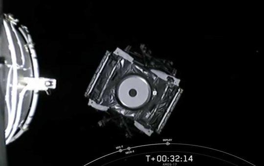 Вывод на орбиту спутника связи AMOS-17 [видео]