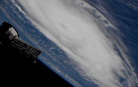 Ураган «Дориан» над Атлантикой — видео с орбиты