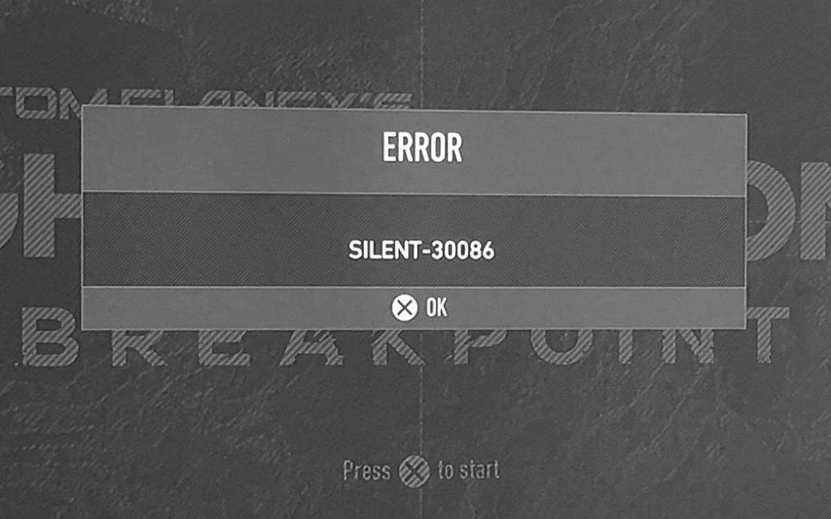 Ошибка Silent-30086 или Silent-40002 в Ghost Recon Breakpoint: что делать?