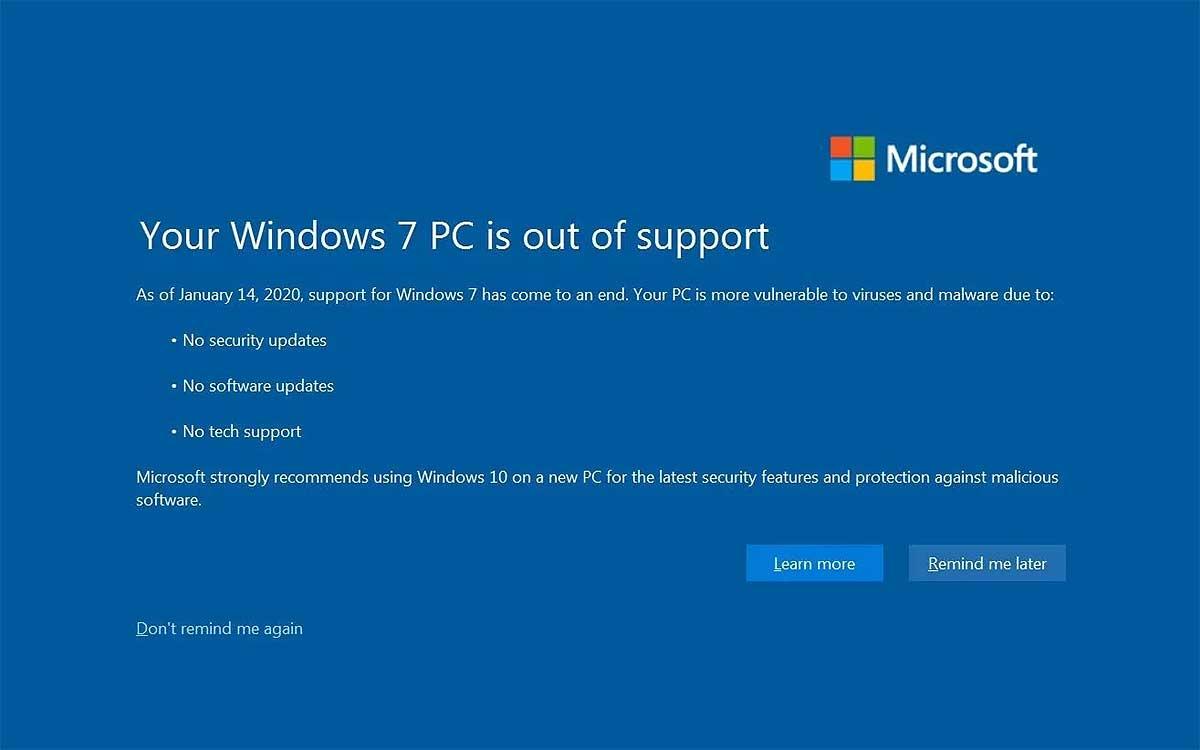 """Заставка """"Ваш ПК с Windows 7 не поддерживается"""": как отключить с гарантией"""