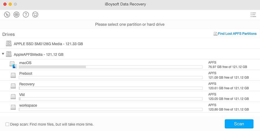 Восстановление удаленных данных с iBoysoft Data Recovery для Mac