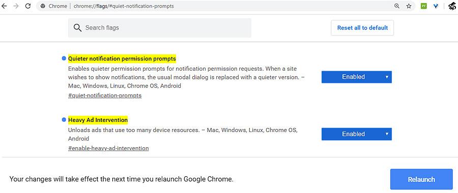 Chrome 80: как включить блокировку тяжелой рекламы и уведомлений сайтов