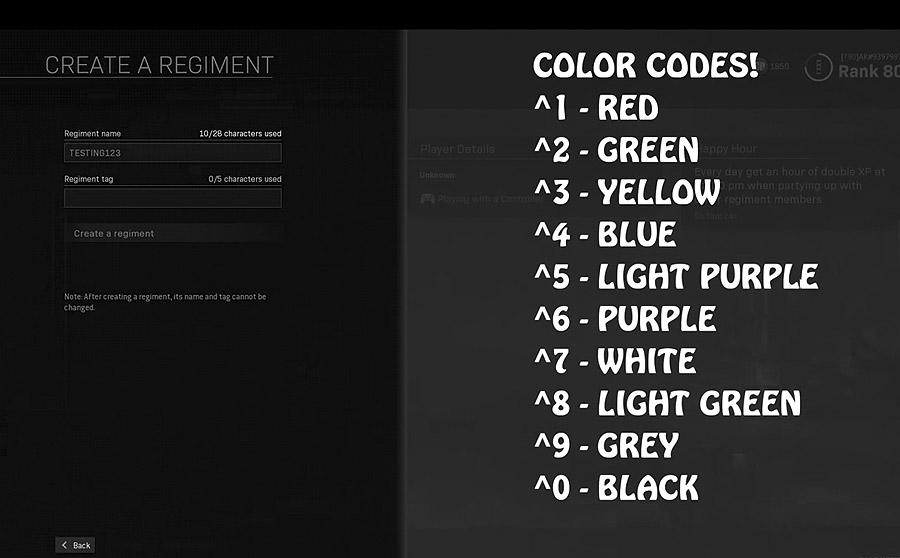 Цветной ник в CoD Modern Warfare: как это делается