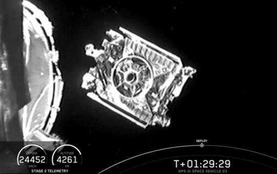 SpaceX вывела на орбиту военный спутник GPS III [видео]