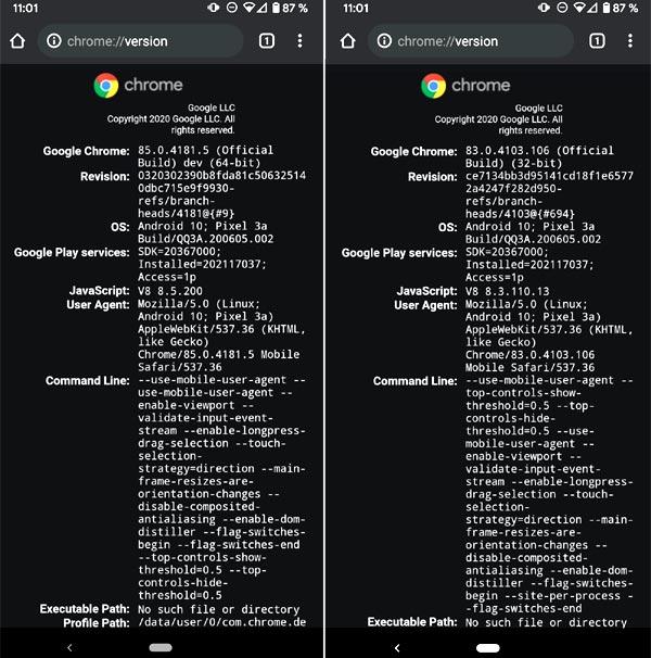 32-или 64-разрядный Chrome: как узнать версию браузера на Android