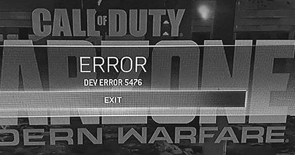 Ошибка 5476 в CoD Modern Warfare и Warzone после апдейта в пятницу 13 ноября