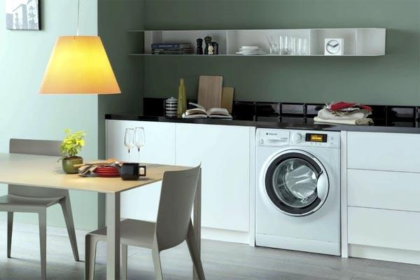 Как встроить стиральную машину на кухню