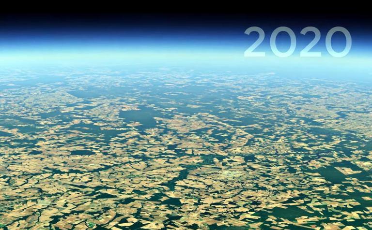 Как растут города, куда делись леса и пр - показывает Google Earth [видео]