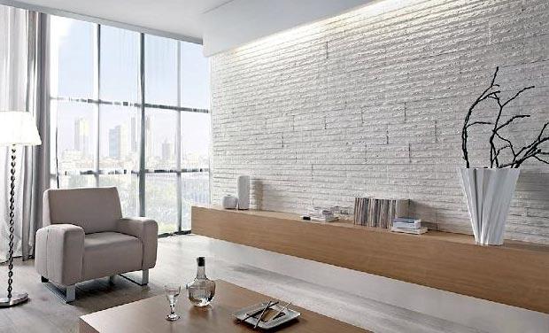 Декор современной гостиной - сила натурального камня