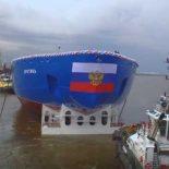 """""""Арктика"""": головной атомный ледокол проекта 22220 спущен на воду [видео]"""
