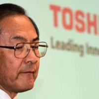 Цена акций Toshiba за день обвалилась на 20%