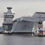Выход авианосца Queen Elizabeth в море пока отложили [видео]
