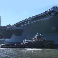 Новый CVN-78 «Gerald R. Ford» успешно прошел заводские ходовые испытания [видео]
