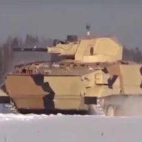 Наземный робототехнический комплекс «Вихрь» с 57-мм орудием [видео]