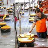 Роботы на сортировке почты в китайском городе Иу [видео]