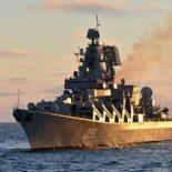 «Маршал Устинов» провел стрельбы в Баранцевом море