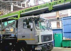 Представлен первый автокран ZMC-25 производства СП «Зумлион-МАЗ» [видео]