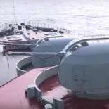 Стрельбы кораблей СФ в Баренцевом море [видео]