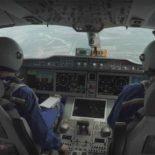 Первый полет нового пассажирского МС-21 [видео]