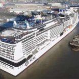 Новый крупнейший в Европе круизный лайнер Meraviglia [видео]
