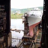 На АСЗ спущен на воду корвет «Громкий» проекта 20380 [видео]