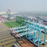 Береговой контейнерный перегружатель ZPMC в работе [видео]