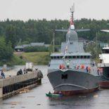 Спущен на воду МРК «Ураган», головной корабль проекта 22800 [видео]