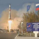 Байконур: старт РКН «Союз-2.1а» с ТГК «Прогресс МС-07» [видео]