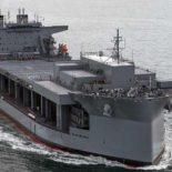 US Navy провели церемонию крещения нового USNS Hershel «Woody» Williams