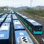 16000: китайский Шэньчжэнь пересел на «зеленые» электроавтобусы [видео]