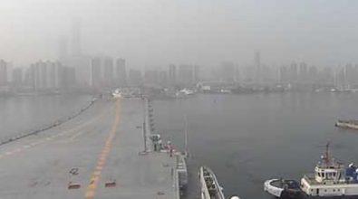 Выход в море первого построенного в КНР авианосца [видео]