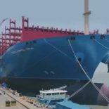 SWS передала заказчику самый большой китайский контейнеровоз [видео]