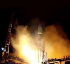 Старт РКН «Союз-2.1б» с военным спутником [видео]