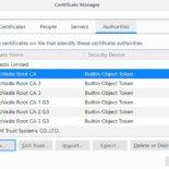 Как удалить сертификаты Dark Matter из Firefox