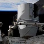 Стыковка грузового Dragon (CRS-19) с МКС [видео]