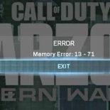 Ошибка 13-71 в CoD Warzone / Modern Warfare — что можно сделать