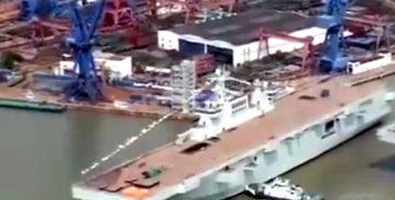 Второй десантный корабль проекта 075 спущен на воду в КНР [видео]