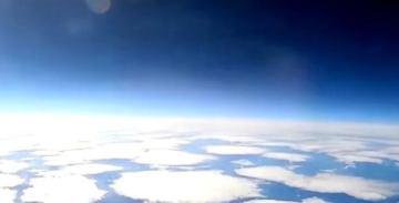Cтратосфера Земли из кабины МиГ-31 [видео]