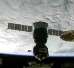 Стыковка пилотируемого корабля «Ю. А. Гагарин» с МКС [видео]